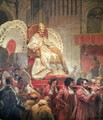 Pope Pius VIII 1761-1830 in St. Peters on the Sedia Gestatoria, 1829 - Horace Vernet
