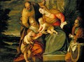 The Holy Family with St. Elizabeth and John the Baptist - Paolo Veronese (Caliari)