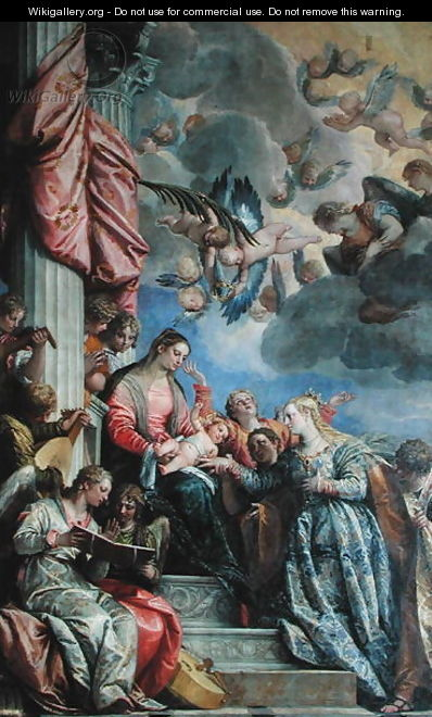 The Mystic Marriage of St. Catherine 2 - Paolo Veronese (Caliari)