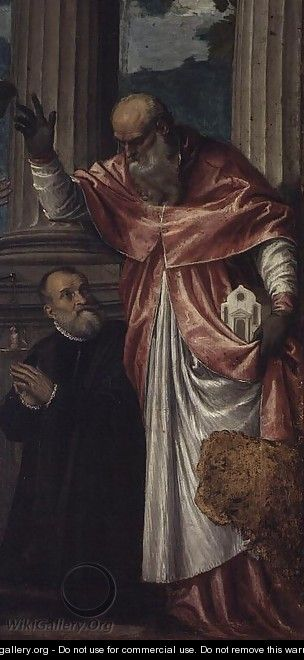 St. Jerome and a Donor - Paolo Veronese (Caliari)