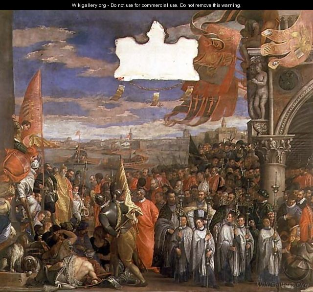 The Doge Andrea Contarini Returning Victorious from Chioggia - Paolo Veronese (Caliari)
