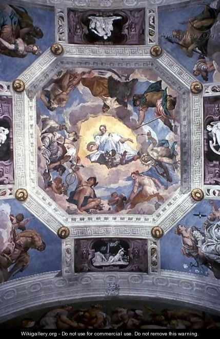 Universal Harmony, or Divine Love, from the ceiling of the Sala di Olimpo, c.1561 - Paolo Veronese (Caliari)