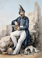A bearded soldier - Carle Vernet