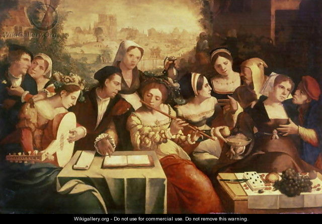The Prodigal Son Feasting with Harlots - Jan Cornelisz Vermeyen
