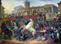 Scene of an unmounted horse race in Rome - Carle Vernet