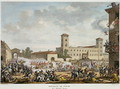 The Revolt of Pavia, 7 Prairial, Year 4 May 1796 engraved by Jacques Joseph Coiny 1761-1809 - Carle Vernet