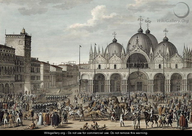 The Entry of the French into Venice in Floreal, Year 5 May 1797 engraved by Jean Duplessi-Bertaux 1747-1819 - Carle Vernet