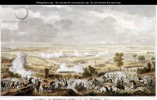 The Battle of Marengo, 23 Prairial, Year 8 12 June 1800 engraved by Jean Duplessi-Bertaux 1747-1819 - Carle Vernet