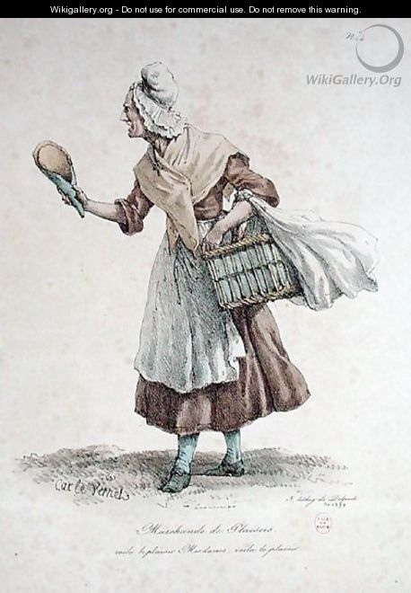 The Pastry Seller, number 4 from The Cries of Paris series, engraved by Francois Seraphin Delpech 1778-1825 - Carle Vernet