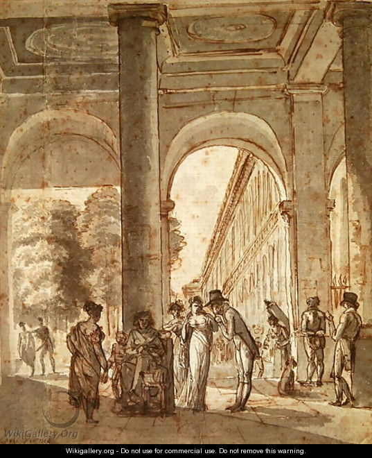 The Palais Royal in 1810 - Carle Vernet