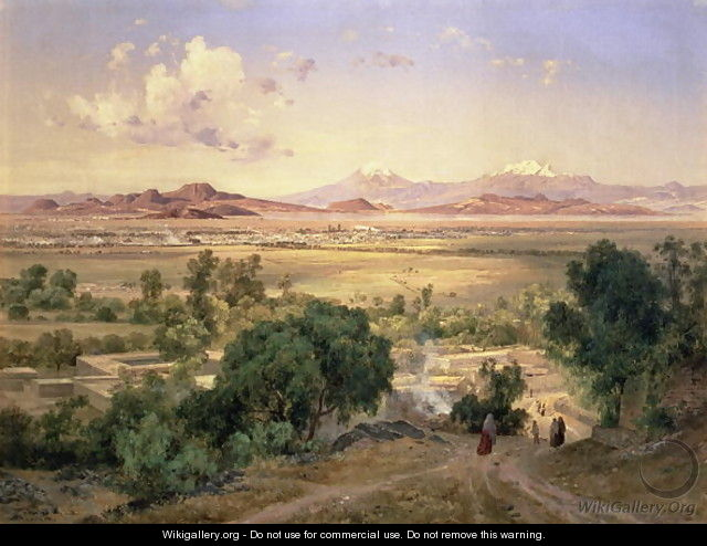 The Valley of Mexico from the Low Ridge of Tacubaya, 1894 - Jose Maria Velasco