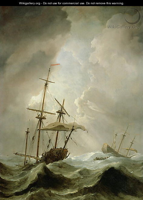 Storm at Sea - Willem van de, the Younger Velde