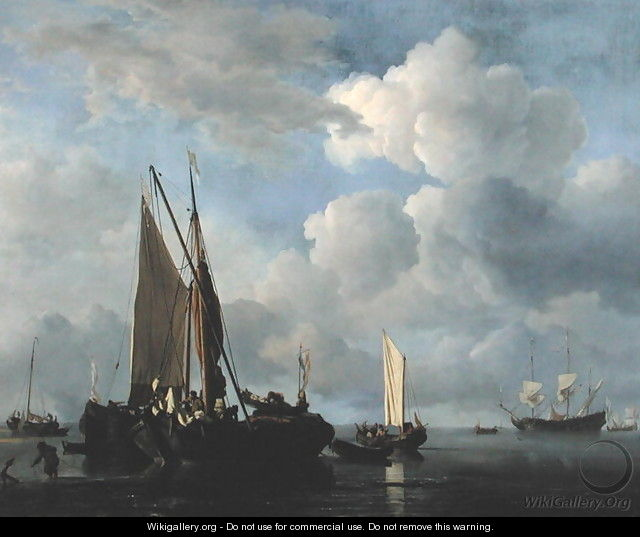 Calm Sea 2 - Willem van de, the Younger Velde