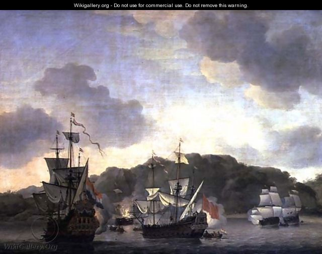 A Naval Engagement, 1659 - Willem van de, the Younger Velde