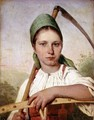 Peasant Woman with a Scythe and Rake, c.1825 - Aleksei Gavrilovich Venetsianov