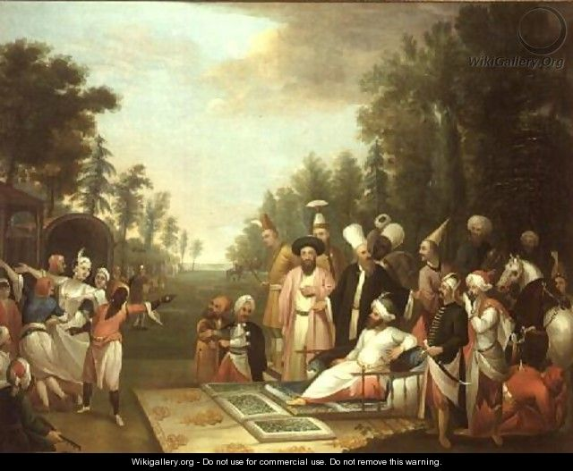 The Turkish Hunting Party, 18th century - Jean Baptiste Vanmour