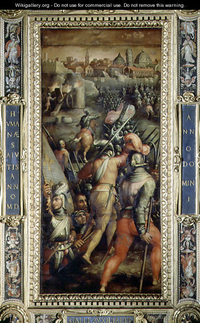 The Battle of Barbagianni from the ceiling of the Salone dei Cinquecento, 1565 - Giorgio Vasari