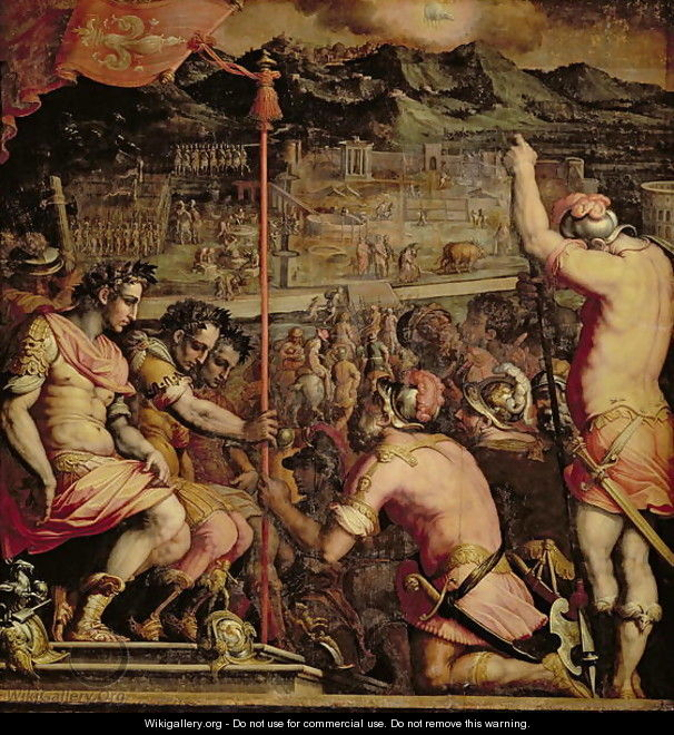 The Founding of Florence from the ceiling of the Salone dei Cinquecento, 1565 - Giorgio Vasari