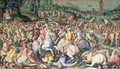 The Defeat of the Pisans at the tower of San Vincenzo, from the Salone dei Cinquecento, 1569 - Giorgio Vasari