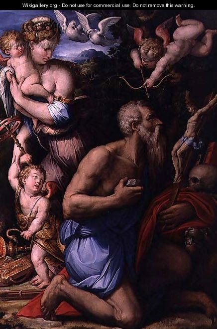 The Temptation of St. Jerome - Giorgio Vasari
