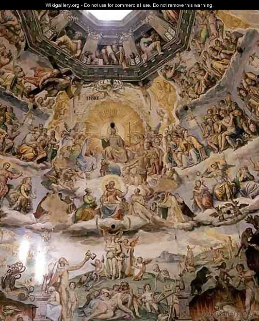 The Last Judgement, detail from the cupola of the Duomo, 1572-79 5 - Giorgio Vasari
