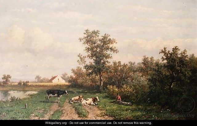 Dutch landscape - Anthonie Jacobus van Wyngaerdt