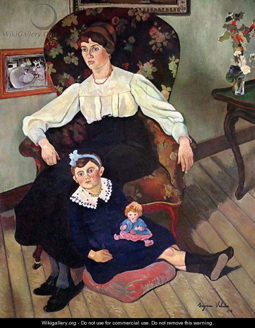 Portrait of Marie Coca and her Daughter, 1913 - Suzanne Valadon
