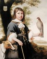 Boy with a falcon and a greyhound - Bernard Vaillant