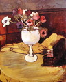 Vase of Flowers, Anemones in a White Glass - Suzanne Valadon