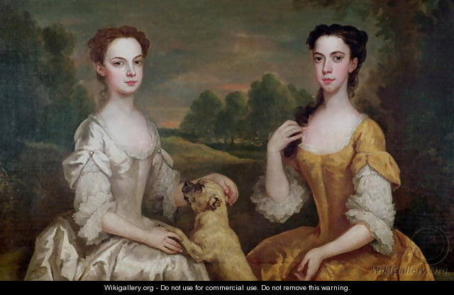 Portrait of Ann and Mary Tonson - Peter Vanderbank