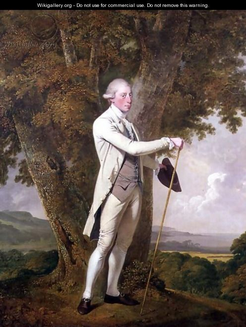 Portrait of John Milnes, 12th Duke of St. Albans (d.1810) c.1771-72 - Josepf Wright Of Derby