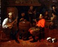 A Tavern Interior with Mandolin Player - Mathijs Wulfraet