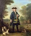 Portrait of Sir Robert Walpole (1676-1745) as Master of the Kings Staghounds in Windsor Forest - John Wootton