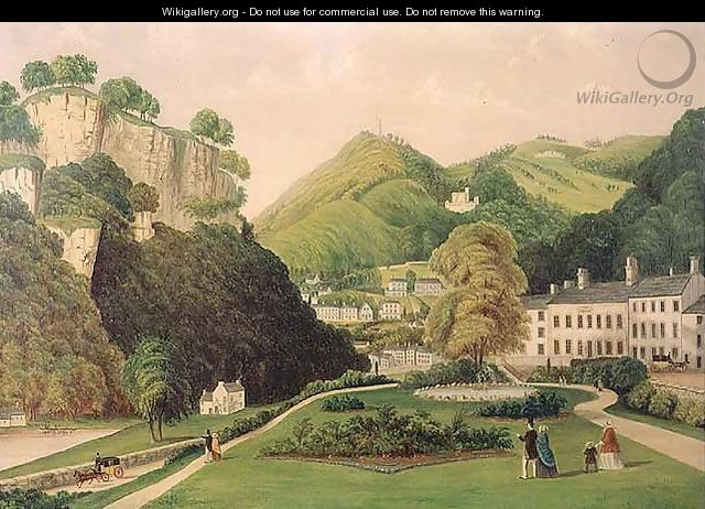 Matlock Bath from the grounds of the Bath Hotel, 1895 - E. Wray