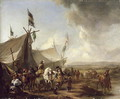 In front of the Market Tent - Pieter Wouwermans or Wouwerman