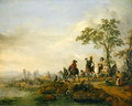 Falconers Return Home from the Hunt, 1658-60 - Philips Wouwerman