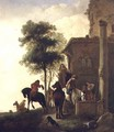 Travellers Watering Their Horses Outside an Inn - Philips Wouwerman