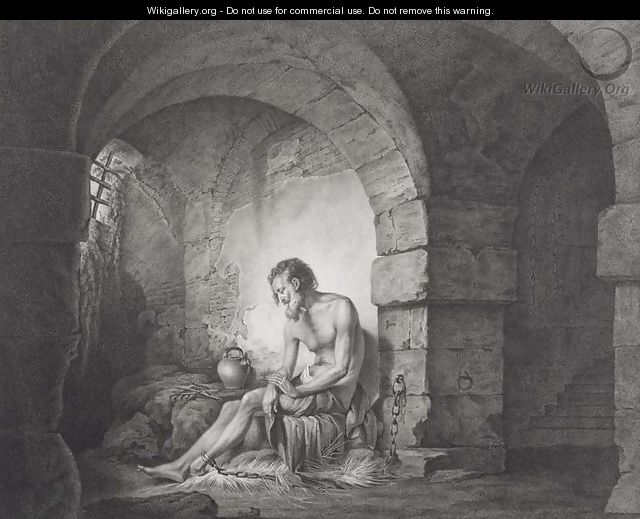 The Captive, engraved by Thomas Ryder (1746-1810) 1786 - Josepf Wright Of Derby