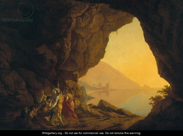 A Grotto in the Kingdom of Naples, with Banditti, exh. 1778 - Josepf Wright Of Derby