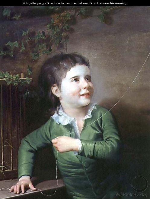 Portrait of a young boy - Josepf Wright Of Derby