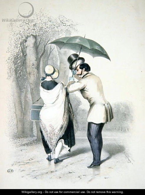 The Milliner or A Way to Engineer an Introduction, c.1840 - (after) Teichel, Franz