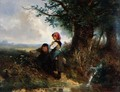 The Pheasant- Landscape with Figures - Jan Mari Henri Ten Kate