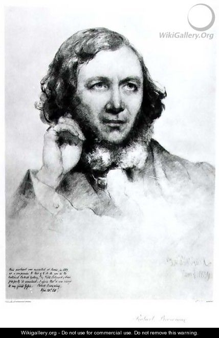 Portrait of Robert Browning 1812-89 1859 - Field Talfourd