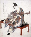 Chinese Beauty Playing the Shamisen, c.1833-34 - Katsushika II (Hokusen) Taito
