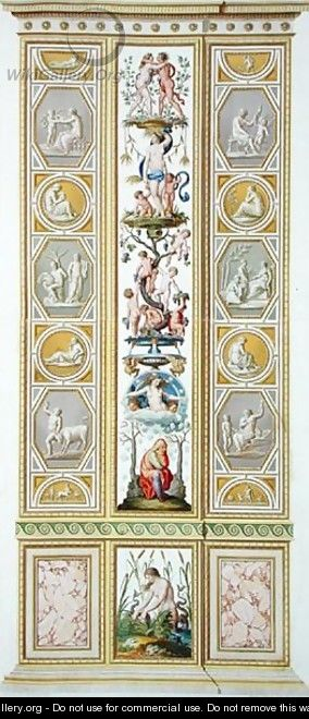Panel from the Raphael Loggia at the Vatican, from Delle Loggie di Rafaele nel Vaticano, engraved by Giovanni Volpato 1735-1803, 1775, published c.1775-77 2 - (after) Taurinensis, Ludovicus Tesio