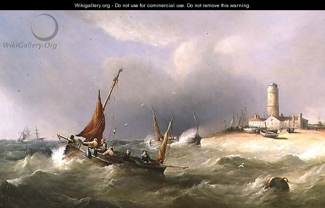 Fishing Boats in a Squall off Dungeness Spit - Henry King Taylor