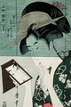 Woman with a Mirror, 19th-20th century reprint - Kitagawa Utamaro