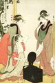 Scene 6, Comparison of celebrated beauties and the loyal league, c.1797 - Kitagawa Utamaro