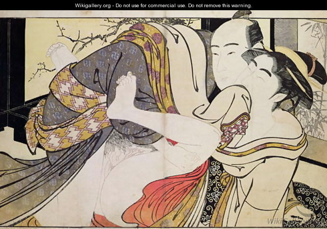 Lovers from the Poem of the Pillow - Kitagawa Utamaro