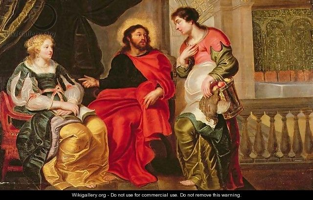 Christ in the House of Mary and Martha - Cornelis De Vos